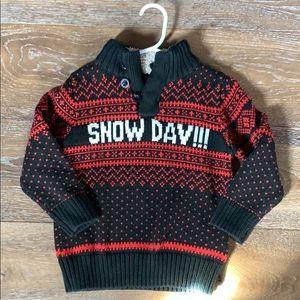 "Heavy Sweater ""Snow Days"" Gap"